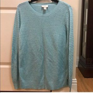 Ann Taylor Loft blue sweater size L